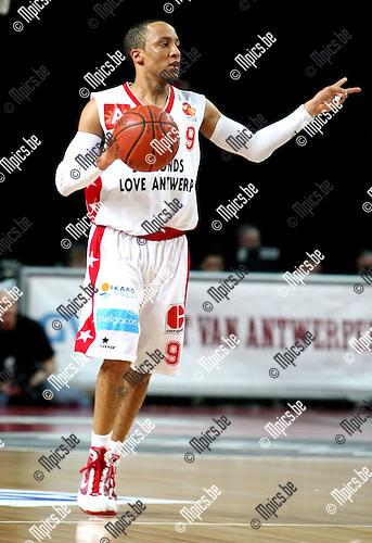 2010-02-13 / Basketbal / seizoen 2009-2010 / Antwerp Giants - Luik / 2010-02-13 / Basketbal / seizoen 2009-2010 / Antwerp Giants - Luik / Timothy Black (Giants) ..Foto: mpics ..Foto: mpics