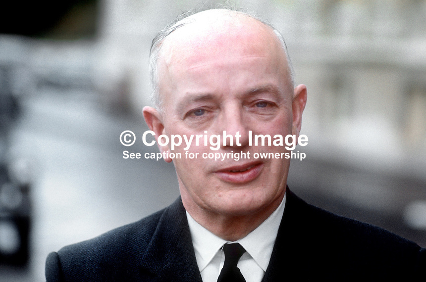 Joshua Cardwell, aka Joss Cardwell, MP, Ulster Unionist, N Ireland Parliament, Belfast, July 1970, 197007000274b<br /> <br /> Copyright Image from Victor Patterson,<br /> 54 Dorchester Park, Belfast, UK, BT9 6RJ<br /> <br /> t1: +44 28 90661296<br /> t2: +44 28 90022446<br /> m: +44 7802 353836<br /> <br /> e1: victorpatterson@me.com<br /> e2: victorpatterson@gmail.com<br /> <br /> For my Terms and Conditions of Use go to<br /> www.victorpatterson.com
