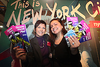 ***NO FEE PIC***.28/01/2011.Jane O' Loughlin.Leslie Platt.at the NYC & Company stall as part of the USA stalls during the Holiday World Show in the RDS which runs from Friday 28th Jan - Sunday 30th Jan, Dublin..Photo: Gareth Chaney Collins