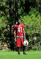 Jul 30, 2008; Flagstaff, AZ, USA; Arizona Cardinals cornerback Travarous Bain during training camp on the campus of Northern Arizona University. Mandatory Credit: Mark J. Rebilas-