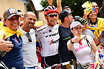 Jarlinson Pantano (COL) Trek-Segafredo with fans at sign on before the start of Stage 13 of the 104th edition of the Tour de France 2017, running 101km from Saint-Girons to Foix, France. 14th July 2017.<br /> Picture: ASO/Alex Broadway | Cyclefile<br /> <br /> <br /> All photos usage must carry mandatory copyright credit (&copy; Cyclefile | ASO/Alex Broadway)