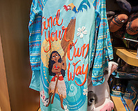 """The Disney Store in Times Square in New York promotes merchandise tied to its latest release, """"Moana"""", seen on Saturday, November 26, 2016. Playing in 3875 locations """"Moana"""" appears to be the winner of the Thanksgiving movie sweepstakes already earning $21.8 million with an estimate of over $80 million by the time the holiday weekend ends. And that's just box office, it doesn't include the obligatory merchandising that goes along.  (© Richard B. Levine)"""