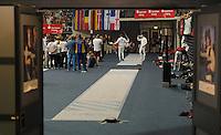 European Championships Fencing 2010 / Fecht Europameisterschaft 2010 in Leipzig - Competition Championat d'europe - im Bild: Jörg Fiedler (GER, Tauberbischofsheim, rechts) scheidet im Herren Degen früh aus  . Foto: Norman Rembarz..Norman Rembarz , Autorennummer 41043728 , Augustenstr. 2, 04317 Leipzig, Tel.: 01794887569, Hypovereinsbank: BLZ: 86020086, KN: 357889472, St.Nr.: 231/261/06432 - Jegliche kommerzielle Nutzung ist honorar- und mehrwertsteuerpflichtig! Persönlichkeitsrechte sind zu wahren. Es wird keine Haftung übernommen bei Verletzung von Rechten Dritter. Autoren-Nennung gem. §13 UrhGes. wird verlangt. Weitergabe an Dritte nur nach  vorheriger Absprache..
