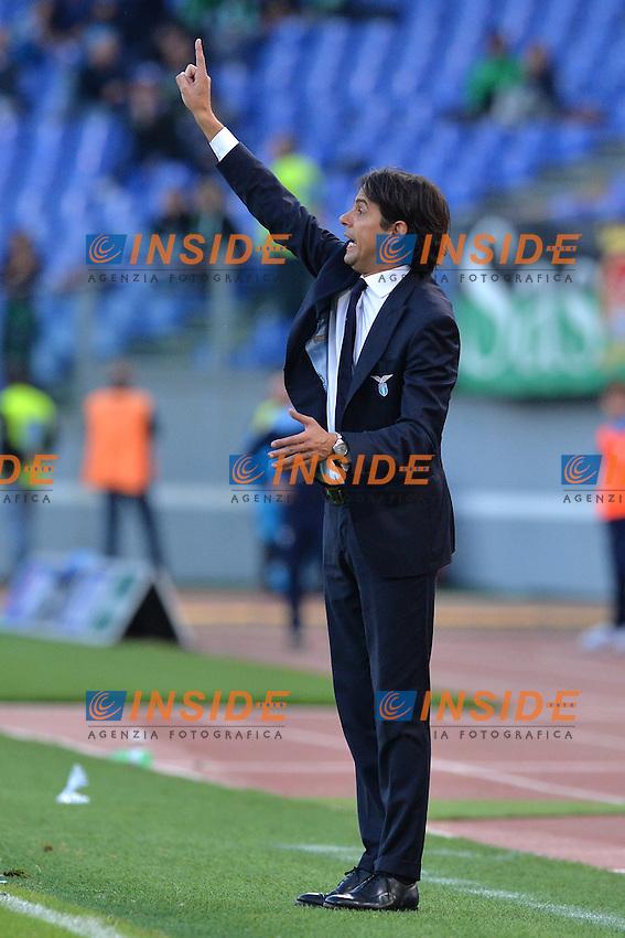 Simone Inzaghi, allenatore della Lazio. Lazio's coach.<br /> Roma 30-10-2016  Stadio Olimpico<br /> Campionato Serie A,<br /> Lazio - Sassuolo<br /> Foto Antonietta Baldassarre / Insidefoto