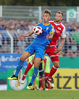 Phillip Tietz, Marvin Friedrich /   /        /      <br /> / Sport / Football / DFB Pokal 1.round 3. Bundesliga 2.Bundesliga /  2018/2019 / 19.08.2018 / FC CZ Jena vs. 1.FC Union Berlin / DFL regulations prohibit any use of photographs as image sequences and/or quasi-video. /<br />       <br />    <br />  *** Local Caption *** &copy; pixathlon<br /> Contact: +49-40-22 63 02 60 , info@pixathlon.de