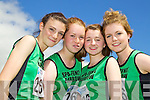Spa Fenit Barrow relay team l-r: Katelynn McCarthy, Aoife Crowley Katie McCarthy Blaithin Griffin pictured at the Kerry Community Games finals at Castleisland on Sunday.