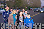 DANGER: An urgent pedestrian crossing is being called for before someone is killed on the Dan Spring Rd. From front l-r were: Stass Goreansky, Deirdre Bermingham, Cllr. Gilian Wharton Slattery, Josh Kelly and Stephen Bermingham. Back l-r were: Cillian Foale,  Tom Wharton and Paraic Bermingham.
