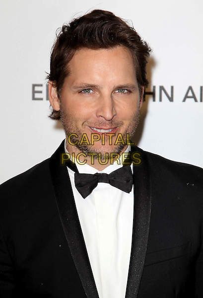 Peter Facinelli.21st Annual Elton John Academy Awards Viewing Party held at West Hollywood Park, West Hollywood, California, USA..February 24th, 2013.oscars headshot portrait bow tie tuxedo stubble facial hair white black.CAP/ADM/KB.©Kevan Brooks/AdMedia/Capital Pictures.
