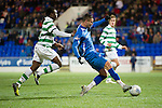St Johnstone v Celtic...18.12.11   SPL .Marcus Haber through on goal oput hit it staright at the keeper.Picture by Graeme Hart..Copyright Perthshire Picture Agency.Tel: 01738 623350  Mobile: 07990 594431