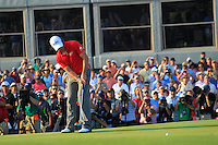 Rory McIlroy (NIR) takes his 20ft birdie putt on the 18th green during Sunday's Final Round of the 94th PGA Golf Championship at The Ocean Course, Kiawah Island, South Carolina, USA 11th August 2012 (Photo Eoin Clarke/www.golffile.ie)