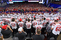 The Ohio State University football team competes at the 2016 Fiesta Bowl in Glendale, AZ. December 31, 2016<br />