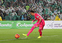 BOGOTA -COLOMBIA, 25-02-2017. Franco Armani .Action game between  La Equidad and Atletico Nacional during match for the date 5 of the Aguila League I 2017 played at Ne stadium . Photo:VizzorImage / Felipe Caicedo  / Staff