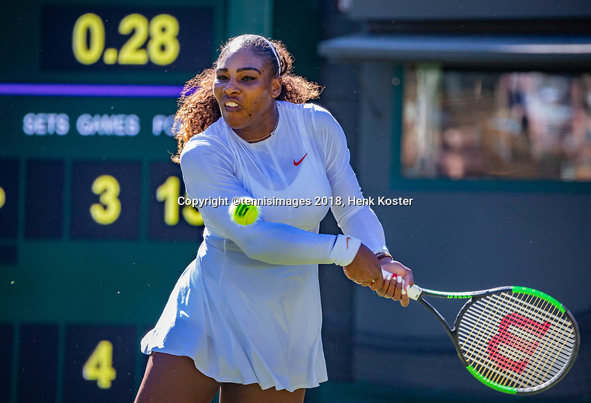 London, England, 2 th July, 2018, Tennis,  Wimbledon,  Serena Williams (USA)<br /> Photo: Henk Koster/tennisimages.com