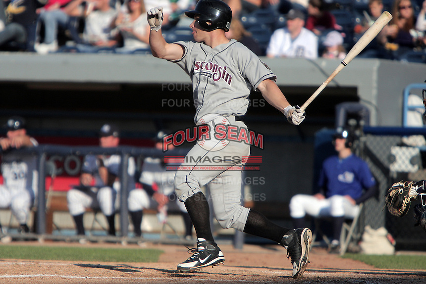 May 29, 2009: Catcher Brett Lawrie of the Wisconsin Timber Rattlers at bat during a game at Fifth Third Field in Comstock Park, MI.  The Wisconsin Timber Rattlers are the Single-A Midwest League affiliate of the Milwaukee Brewers.  Photo By Mike Janes/Four Seam Images