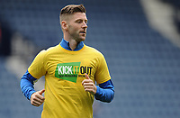 Preston North End's Paul Gallagher during the pre-match warm-up <br /> <br /> Photographer Kevin Barnes/CameraSport<br /> <br /> The EFL Sky Bet Championship - Preston North End v Barnsley - Saturday 5th October 2019 - Deepdale Stadium - Preston<br /> <br /> World Copyright © 2019 CameraSport. All rights reserved. 43 Linden Ave. Countesthorpe. Leicester. England. LE8 5PG - Tel: +44 (0) 116 277 4147 - admin@camerasport.com - www.camerasport.com