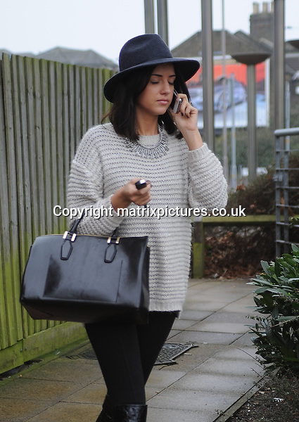 NON EXCLUSIVE PICTURE: MATRIXPICTURES.CO.UK.PLEASE CREDIT ALL USES..WORLD RIGHTS..The Only Way Is Essex reality television star Lucy Mecklenburgh is spotted for the first time since news of her boyfriend, TOWIE co-star Mario Falcone, had been cheating on her...JANUARY 26th 2013..REF: SHJ 131312