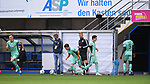 Doppelwechsel bei Hoffenheim: v.l.Maximilian Beier (TSG 1899 #35), Dennis Geiger (TSG 1899 #8), Sebastian Rudy (TSG 1899 #16), Ihlas Bebou (TSG 1899 #9).<br />