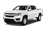 2016 Chevrolet Colorado Work-Truck-Crew 4 Door Pick-up Angular Front stock photos of front three quarter view
