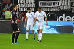 06.10.2019, Commerzbankarena, Frankfurt, GER, 1. FBL, Eintracht Frankfurt vs. SV Werder Bremen, <br /> <br /> DFL REGULATIONS PROHIBIT ANY USE OF PHOTOGRAPHS AS IMAGE SEQUENCES AND/OR QUASI-VIDEO.<br /> <br /> im Bild: Frust bei Nuri Sahin (SV Werder Bremen #17) und Philipp Bargfrede (#44, SV Werder Bremen)<br /> <br /> Foto © nordphoto / Fabisch