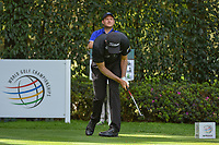 Webb Simpson (USA) reacts to his tee shot on 12 during round 2 of the World Golf Championships, Mexico, Club De Golf Chapultepec, Mexico City, Mexico. 2/22/2019.<br /> Picture: Golffile | Ken Murray<br /> <br /> <br /> All photo usage must carry mandatory copyright credit (© Golffile | Ken Murray)