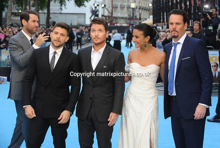 NON EXCLUSIVE PICTURE: PAUL TREADWAY / MATRIXPICTURES.CO.UK<br /> PLEASE CREDIT ALL USES<br /> <br /> WORLD RIGHTS<br /> <br /> American actor Jerry Ferrara, American actor Kevin Connolly, Canadian actress Emmanuelle Chriqui and American actor, Kevin Dillon attending the European Premiere of Entourage at Vue West End, in London.<br /> <br /> JUNE 9th 2015<br /> <br /> REF: PTY 151850