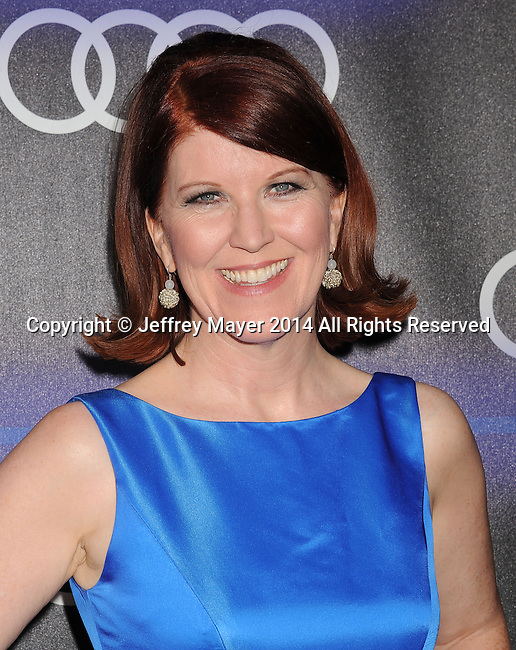 LOS ANGELES, CA- AUGUST 21: Actress Kate Flannery arrives at the Audi Emmy Week Celebration at Cecconi's Restaurant on August 21, 2014 in Los Angeles, California.