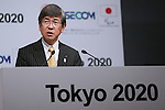 Yukiyasu Aoyama, OCTOBER 19, 2015 : Sohgo Security Services Co., Ltd. (ALSOK) and SECOM hold a media conference in Tokyo, Japan. The two security providers, ALSOK and SECOM, announced that they would be official partners for the Tokyo Organising Committee of the Olympic and Paralympic Games. (Photo by Sho Tamura/AFLO SPORT)