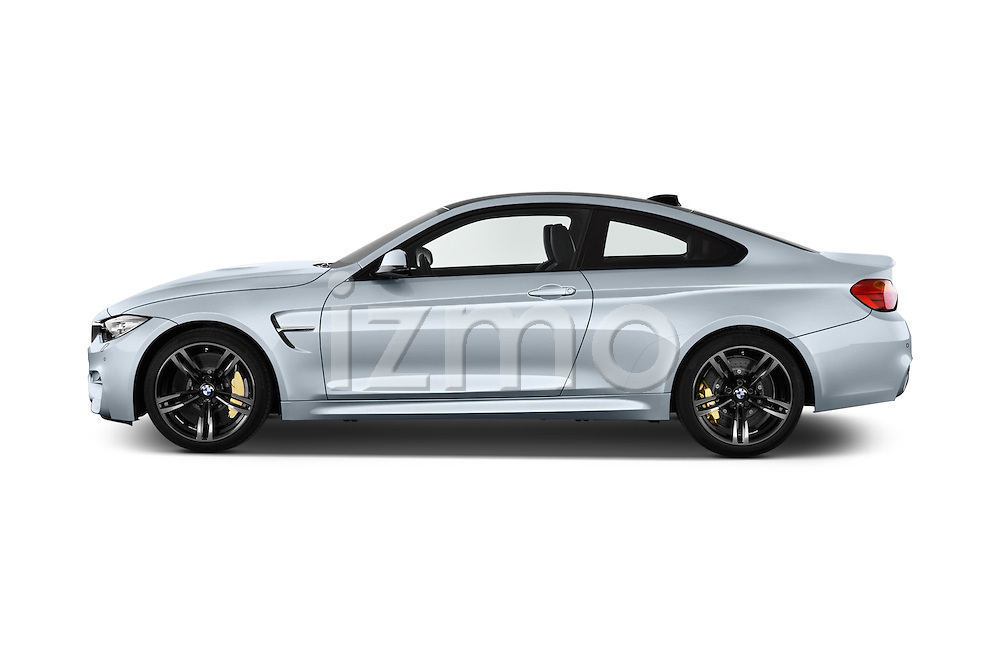 Car Driver side profile view of a 2016 BMW M4 2 Door Coupe Side View