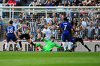 Dwight Gayle of Newcastle United scores the opening goal of the game during Newcastle United vs Chelsea, Premier League Football at St. James' Park on 13th May 2018