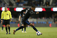 San Jose, CA - Saturday October 06, 2018: Danny Hoesen during a Major League Soccer (MLS) match between the San Jose Earthquakes and the New York Red Bulls at Avaya Stadium.