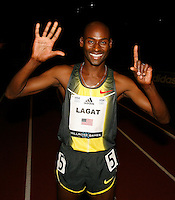 Bernard Lagat smiling after his 6th. consecutive win of the Wanamaker Mile at Madison Square Garden on Friday, February 1, 2008. Photo by Errol Anderson,The Sporting Image..