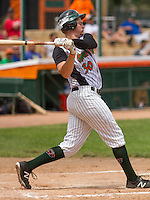 GREEN BAY - June 2015: Green Bay Bullfrogs infielder Ryan Donovan (30) during a Northwoods League game against the Kenosha Kingfish on June 21st, 2015 at Joannes Park in Green Bay, Wisconsin. Green Bay defeated Kenosha 10-7. (Brad Krause/Krause Sports Photography)