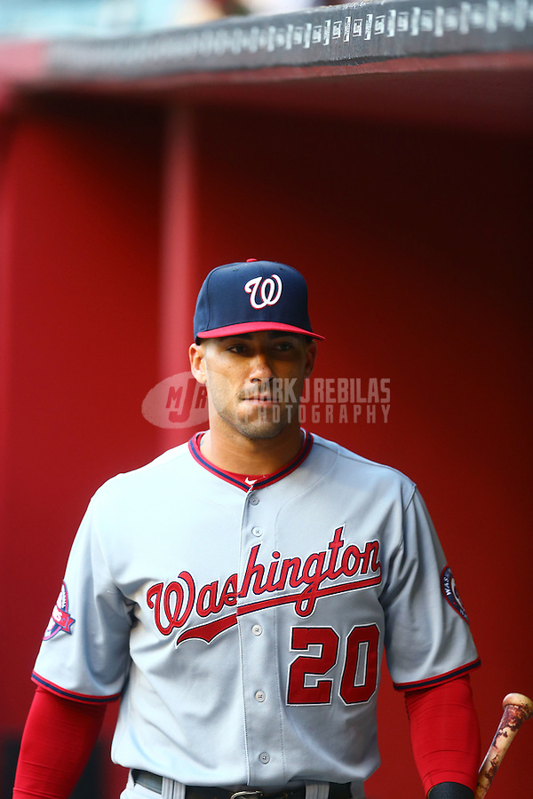 May 11, 2015; Phoenix, AZ, USA; Washington Nationals shortstop Ian Desmond against the Arizona Diamondbacks at Chase Field. Mandatory Credit: Mark J. Rebilas-USA TODAY Sports