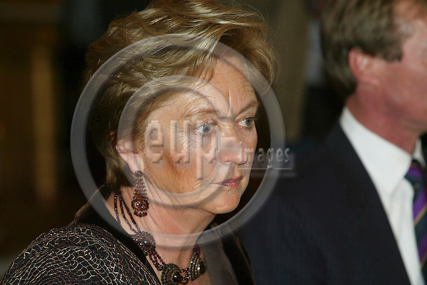 """BRUSSELS - BELGIUM - 17 NOVEMBER 2005 -- Belgium Queen Paola during the lunch at the Royal Palace in Brussels before the opening of the exhibition about """"Queen Astrids life in Belgium"""".  PHOTO: ERIK LUNTANG / EUP-IMAGES.."""