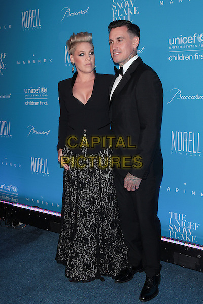 NEW YORK, NY - DECEMBER 1: Pink and Carey Hart at the 11th Annual UNICEF Snowflake Ball at Cipriani, Wall Street on December 1, 2015 in New York City.  <br /> CAP/MPI99<br /> &copy;MPI99/Capital Pictures