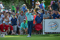 Matt Fitzpatrick (ENG) watches his tee shot on 18 during 2nd round of the World Golf Championships - Bridgestone Invitational, at the Firestone Country Club, Akron, Ohio. 8/3/2018.<br /> Picture: Golffile | Ken Murray<br /> <br /> <br /> All photo usage must carry mandatory copyright credit (© Golffile | Ken Murray)