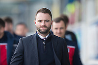 1st February 2020; Cappielow Park, Greenock, Inverclyde, Scotland; Scottish Championship Football, Greenock Morton versus Dundee Football Club; Dundee manager James McPake arrives at Cappielow Park ahead of the match