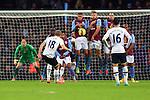 Tottenham's Harry Kane scores from a deflected free kick - Aston Villa vs. Tottenham Hotspurs - Barclay's Premier League - Villa Park - Birmingham - 02/11/2014 Pic Philip Oldham/Sportimage