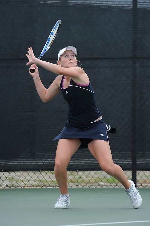 SAN DIEGO, CA - APRIL 25:  Molly Aloia of the Saint Marys Gaels during the WCC Tennis Championships at the Barnes Tennis Center on April 25, 2010 in San Diego, California.