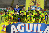 NEIVA - COLOMBIA, 08-09-2018: Jugadores del Huila posan para una foto previo al partido entre Atlético Huila y Independiente Santa Fe por la fecha 9 de la Liga Águila II 2018 jugado en el estadio Guillermo Plazas Alcid de la ciudad de Neiva. / Players of Huila pose to a photo prior the match between Atletico Huila and Independiente Santa Fe for the date 9 of the Aguila League II 2018 played at Guillermo Plazas Alcid in Neiva city. VizzorImage / Sergio Reyes / Cont