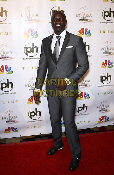 AKON (Aliaune Thiam).2012 Miss USA Pageant red carpet arrivals at Planet Hollywood Resort and Casino, Las Vegas, Nevada, USA..3rd June 2012.full length grey gray suit.CAP/ADM/MJT.© MJT/AdMedia/Capital Pictures.