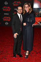 "J.J. Abrams & Katie McGrath at the world premiere for ""Star Wars: The Last Jedi"" at the Shrine Auditorium. Los Angeles, USA 09 December  2017<br /> Picture: Paul Smith/Featureflash/SilverHub 0208 004 5359 sales@silverhubmedia.com"