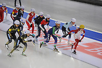 SCHAATSEN: BERLIJN: Sportforum Berlin, 07-12-2014, ISU World Cup, Mass Start Ladies, Ivanie Blondin (#1), Irene Schouten (#2), ©foto Martin de Jong