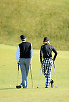 ALFRED DUNHILL LINKS CHAMPIONSHIP, ST.ANDREWS 2007. 4TH-7TH OCTOBER..EARLY PRACTICE AT KINGSBARNS FOR DON FELDER AND HELGA PIAGET..2-10-07 PIC BY IAN MCILGORM