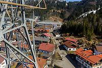 Blick vom Nebelhorn-Lift auf Oberstdorf im Allg&auml;u, Bayern, Deutschland<br /> Blick vom Nebelhorn-Lift over Oberstdorf, Allg&auml;u, Bavaria, Germany