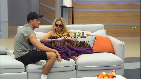 Celebrity Big Brother 2017<br /> Jordan Davies, Sarah Harding<br /> *Editorial Use Only*<br /> CAP/KFS<br /> Image supplied by Capital Pictures