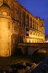 20050123 - France - Saint-Germain-en-Laye<br /> LE CHATEAU DE NUIT<br /> Ref:SAINT-GERMAIN-EN-LAYE_032 - © Philippe Noisette