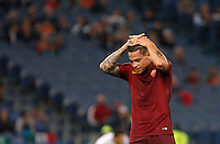 Calcio, Europa League: Roma vs Astra Giurgiu. Roma, stadio Olimpico, 29 settembre 2016.<br /> Roma&rsquo;s Juan Iturbe celebrates after scoring during the Europa League Group E soccer match between Roma and Astra Giurgiu at Rome's Olympic stadium, 29 September 2016. Roma won 4-0.<br /> UPDATE IMAGES PRESS/Riccardo De Luca