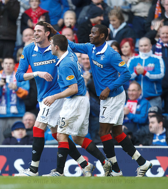 Kyle Lafferty takes the acclaim for his headed goal
