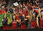 LAS VEGAS, NV - MARCH 7:  Cheerleaders during the Saint Mary's Gaels 69-55 win over the Portland Pilots in the WCC Basketball Tournament on March 7, 2010 at Orleans Arena in Las Vegas Nevada.
